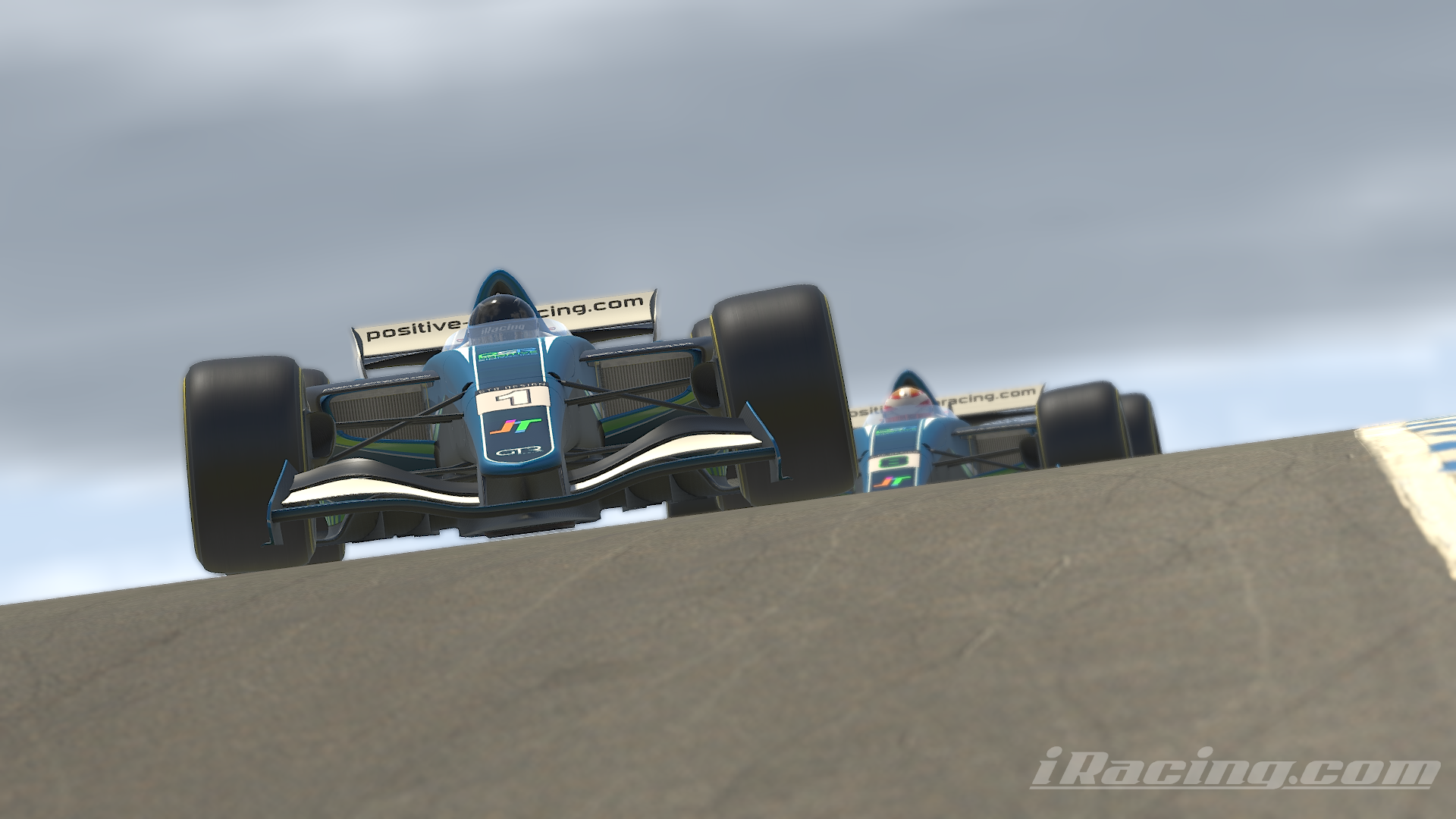 Positive Simracing drivers Tim Delisle and Greg Olson finished in P1 and P2 in the first season of the Dallara iR-01 series